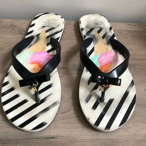 Kate Spade Fifi Ice Cream Stripe Print Flip Flops